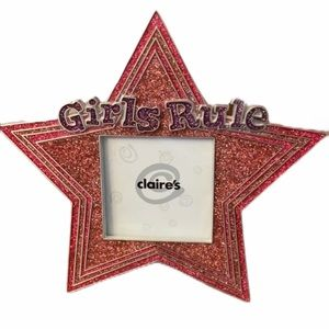⭐️ Claire's Pink Star Shaped Frame